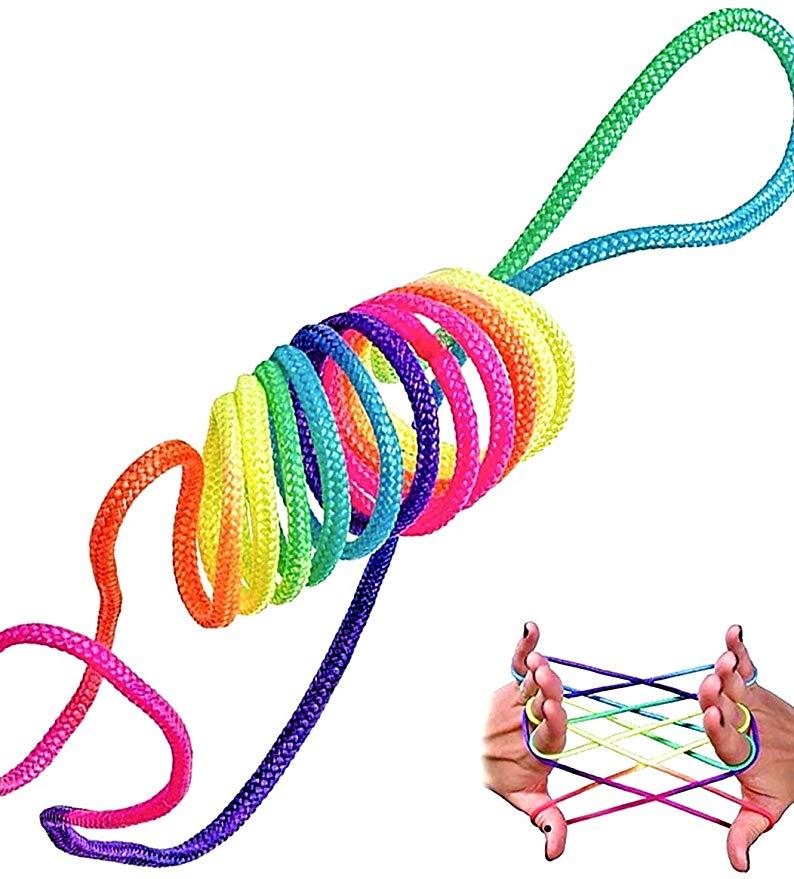 rainbow rope Jeu Doigt Jeu Corde